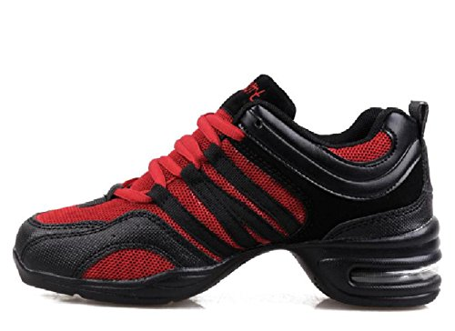 Red Beauty Dance Lace Boost Sneakers up D2C Black Breathable Womens pq6zAwzxR