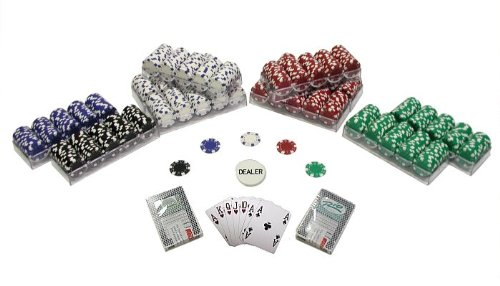 (Trademark 1000 Striped Dice 11.5 Gram Poker Chips Texas Hold Em Poker Chip Set, Multi)