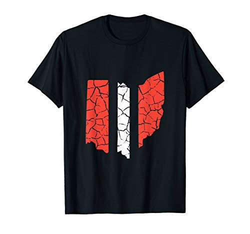 Ohio Stripe Cleveland Shirt For Football Fans T-Shirt]()
