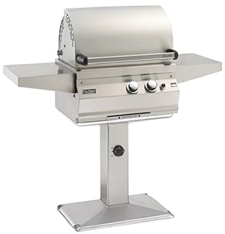 Fire Magic 21-S1A1N-G6 Deluxe Legacy Gourmet In Ground Post Stainless Steel Grill with Infrared Burners and Natural - Deluxe Natural Gas Grill