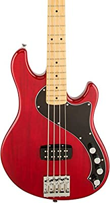 Fender Squier Deluxe Dimension Bass Guitar V 5-String Maple Neck, Black