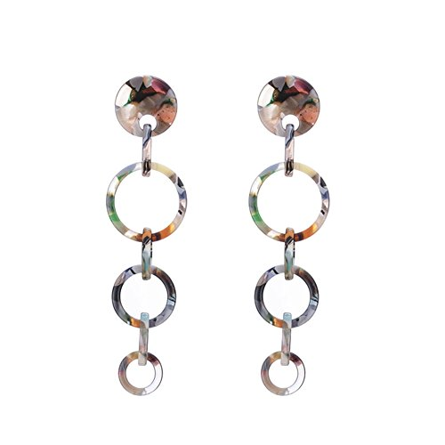 Aibelly Resin Acrylic Drop Dangle Earrings New Fashion Geometric Creative Personality Rectangle Round Square Tree Earrings for Woman Girls ()