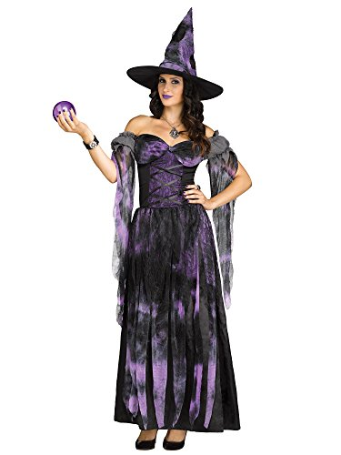 [Adult Starlight Witch Costume (Medium/Large, multi-colored)] (Witch Costume For Adults)