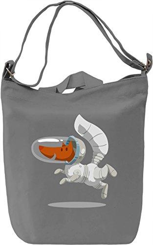 Astronaut fox Borsa Giornaliera Canvas Canvas Day Bag| 100% Premium Cotton Canvas| DTG Printing|