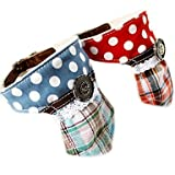 Feng Polka Dots Necktie Style Genuine Leather Puppy Bandana Collar for Pets Dogs (Assorted Colors)