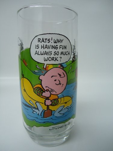 McDonalds Camp Snoopy collectible glass (Charlie Brown)