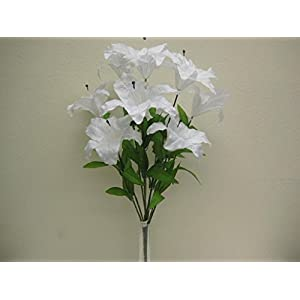 "Jumbo Tiger Lily Bush Artificial Satin Flowers 25"" Bouquet 9-003 89"
