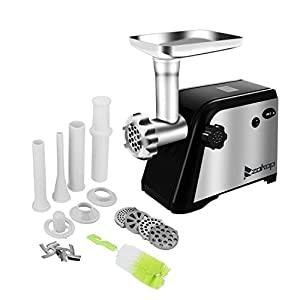 Z ZTDM Electric Meat Grinder, 1300W Meat Mincer Sausage Stuffer, Stainless Steel Food Grinder with 4 Grinding Plates and 3 Sausage Stuffing Tubes, Time Saving/Power Saving/Easy Cleaning