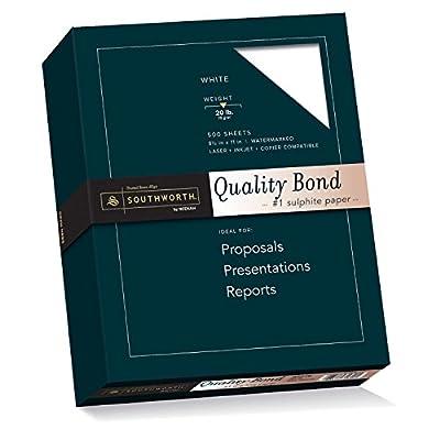 Southworth Quality Bond Paper, 8.5 x 11 inches, 20 lb, White, 500 Sheets per Box (31-620-10)