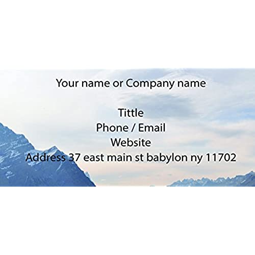 Personalized business cards amazon design your own business cards from printing demand 100 cards front only reheart Images
