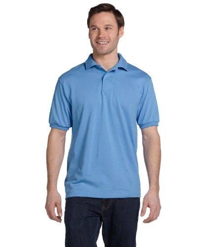 Hanes ComfortBlend EcoSmart Jersey Knit Polo Shirt, Deep