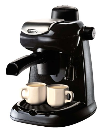 DeLonghi EC5 Steam-Driven 4-Cup Espresso and Coffee Maker, Black
