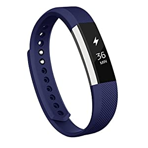 AK Fitbit Alta Bands, Replacement with Metal Clasp, Small, Blue
