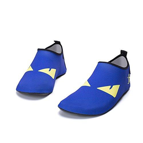 snorkeling essiccazione e morbida pelle 1945 scarpe Nuoto traspirante di Lucdespo rapida occhi da nuoto outdoor inferiore bambino spiaggia scarpe blu scarpe genitore scarpe di 68w8qU4H