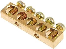 Barre neutre de mise /à la terre de fil de distribution /électrique /à 10 trous Barre de mise /à la terre 5 trous