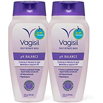 Vagisil Feminine Wash pH Balanced, Daily Intimate Vaginal Wash, 12 ounce (Pack of 2)