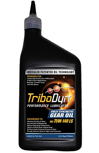 Gear Synthetic Oil Fully (TriboDyn 75W-140 Fully Synthetic Limited Slip Gear Oil - Quart Bottle)