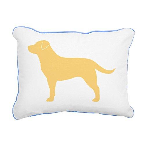 """CafePress - Yellowlabbiz - 12""""x15"""" Rectangular Canvas Pillow, Decorative Throw Pillow with Piping, Accent Pillow"""