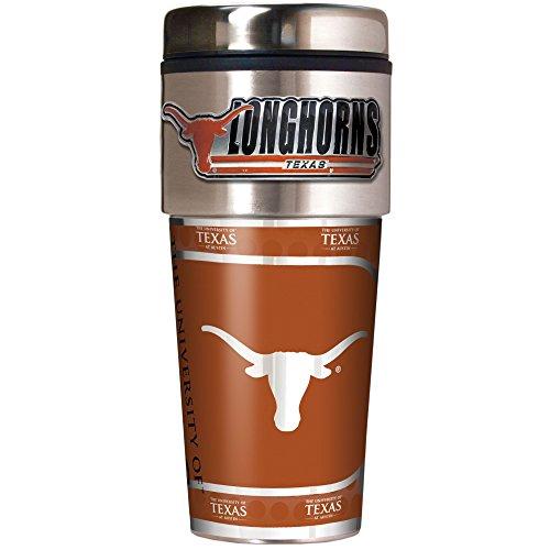 Great American Products NCAA Texas Longhorns Metallic Travel Tumbler, (Texas Longhorns Fan)
