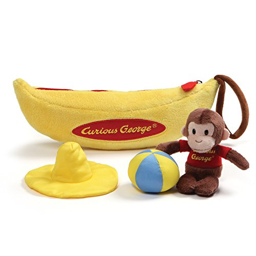 George Yellow Hat (GUND Curious George Banana Sensory Skills Stuffed Animal Plush Playset (4)