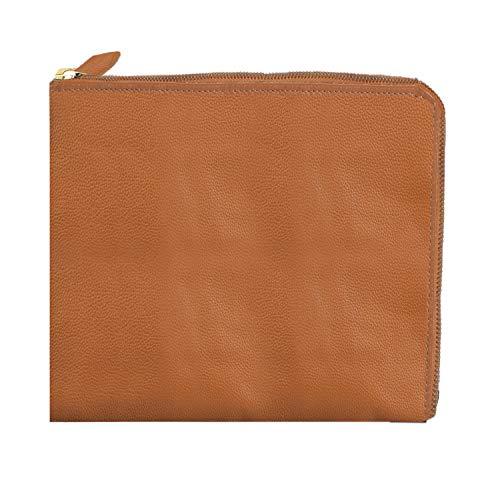 - Shop LC Delivering Joy Hazel Brown Genuine Pebbled Leather Zipper Pouch 11x8.75