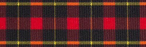 Scottish Tartan Ribbon - Country Brook Design 7/8 Inch Black and Red Plaid Grosgrain Ribbon, 5 Yards