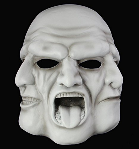 Gmasking Resin Halloween Greek Tragedy Coplay Mask Replica+Gmask Keychain -