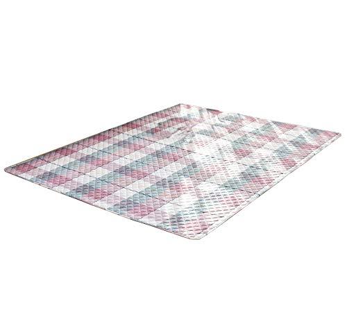 Carpet,Floor Mat, Washed Cotton Striped Carpet, Absorbent Vacuum, Rectangular Lattice, Soft and Comfortable (Size : 110210CM)