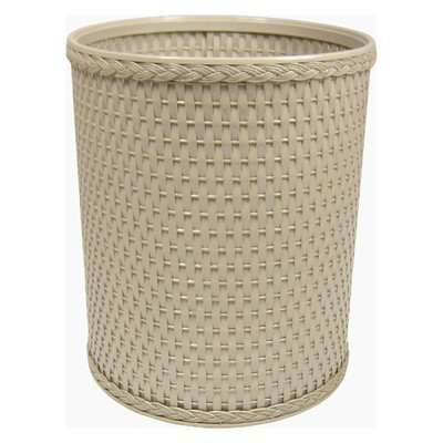 Chelsea Collection Decorator Color Round Wicker Wastebasket R426MO by Redmon