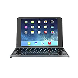 ZAGG Slim Book Ultrathin Case, Hinged with Detachable Bluetooth Keyboard for iPad mini 4 - Black