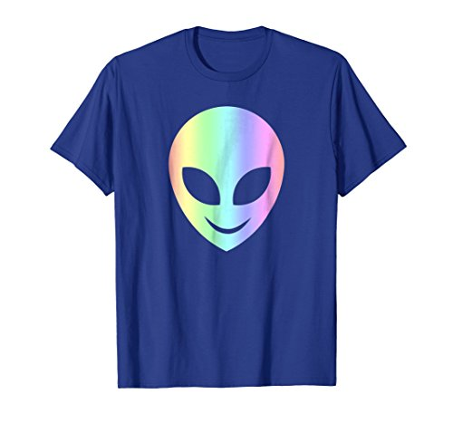 Smile Happy Alien T-Shirt Cool Funny Smiling Head Aliens Tee