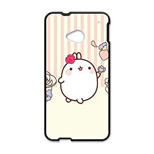 cute pink lovely rabbit cartoon personalized high quality cell phone case for HTC M7 wangjiang maoyi