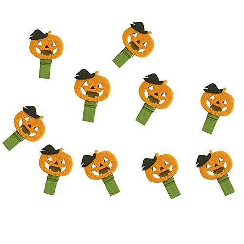 10pcs Halloween Party Pumpkin Wooden Clip Photo Paper Peg Pin DIY Accessories OneSize