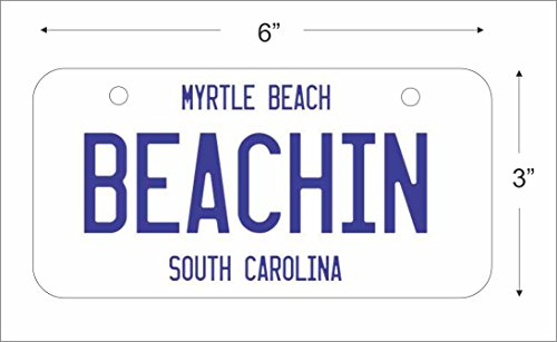 Mini License Plate for Bicycles, Bikes, Wheelchairs, Golf Carts personalized with your design custom vanity (White, Black OR Blue) Decorative plate can also be used as a door (Custom Bicycle License Plate)