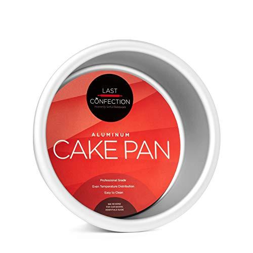 "Last Confection 4"" x 2"" Deep Round Aluminum Cake Pan - Professional Bakeware"