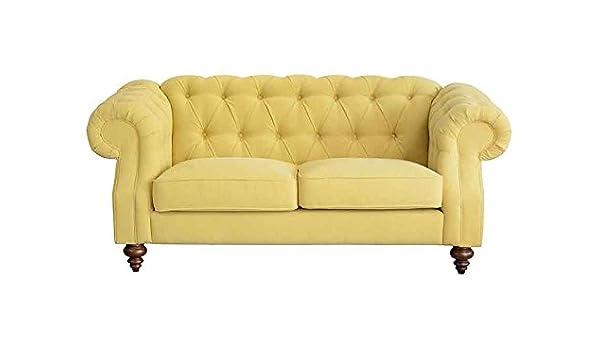 My-Furniture - Sofá Buster Málaga Mustard de 2 plazas ...