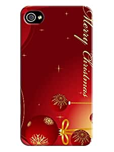 2014 hot sale New Style Merry Christmas TPU phone case/cover with fashionable designed for iphone 4/4s