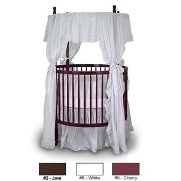 angel line traditional round crib cherry
