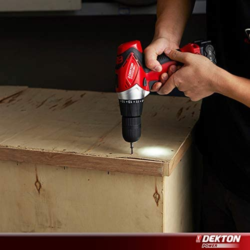 Dekton Power 610010 18V Cordless Driver, Screwdriver Set Complete with 13pc Drill and Bits,1500 LI-ION Battery,Led Light with Built in Spirt Level