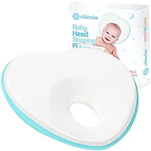 Newborn Baby Pillow, Memory Foam Cushion for Flat Head Syndrome Prevention and Head Support