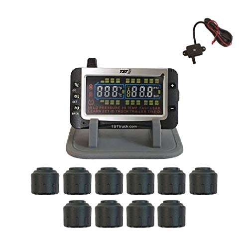 (Truck Systems Technology TST 507 Tire Pressure Monitor w/10 Cap Sensors with Color Display)