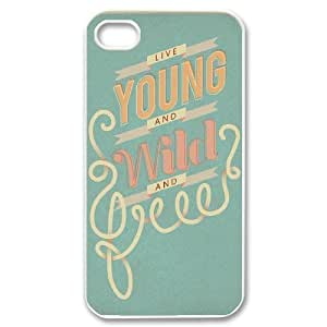 Young Wild and Free ZLB524701 Personalized Case for Iphone 4,4S, Iphone 4,4S Case