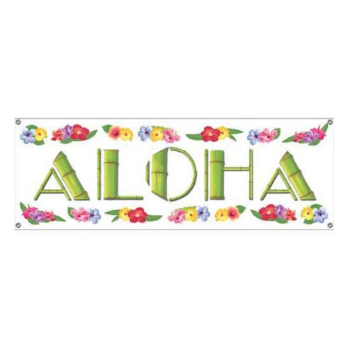 Aloha Sign Banner Party Accessory (1 count) (1/Pkg)