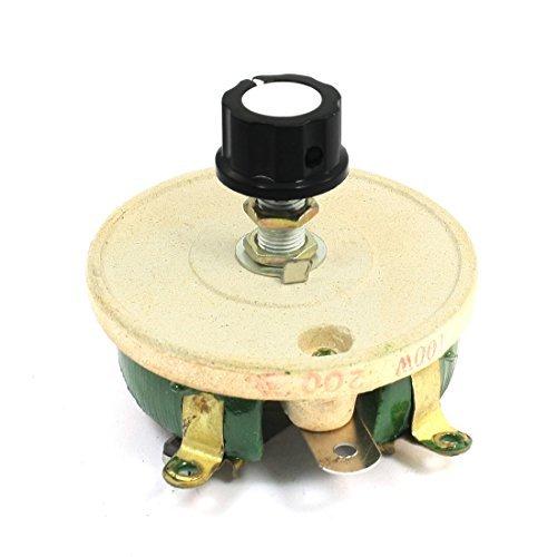 EbuyChX Single Lumiko Resistor 100W 200 oum Volume Control Ceramic Disk reostat