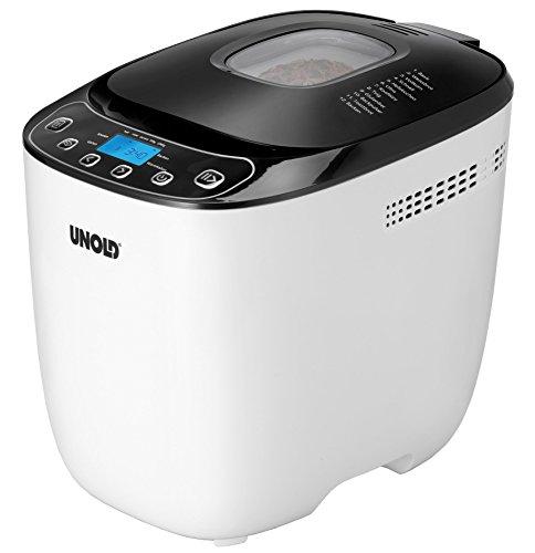 Unold 68010 Back Meister - Panificadora (, 1 kg, 550 W, color blanco y negro: Amazon.es: Hogar
