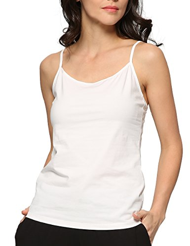 - GYS Womens Essential Adjustable Camisole Tank Top White
