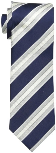 Donald Trump Men's Jaguar Core Stripe Tie, Dark Navy, One Size
