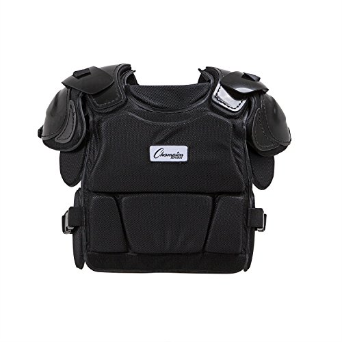 Champion Sports Low Rebound Foam Professional Model Chest Protector (Black, 16-Inch)