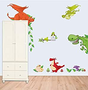 Cartoon lovely animals Wall Stickers For Kids Rooms DIY wall decal Children Bedroom Home Decor mm