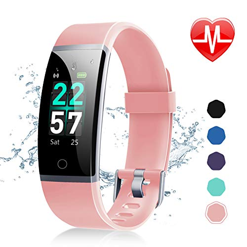 - Letsfit Fitness Tracker, Activity Tracker Watch with Heart Rate Monitor, Waterproof IP68 Smart Watch with Step Counter, Calorie Counter, Call & SMS Pedometer Watch for Women Men Kids